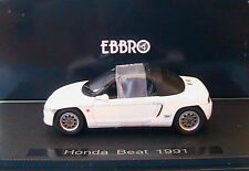 HONDA BEAT SPIDER SPYDER WHITE 1991 EBBRO 1/43 BLANCHE