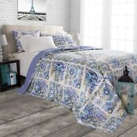 Abstract Water Color Print Colorful Quilted Blanket Bedspread Twin Queen King