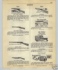 1952 PAPER AD Daisy Air Rifle BB Gun Red Ryder Carbine Repeater Target Benjamin