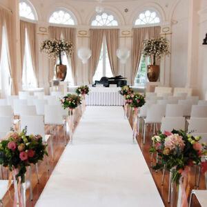 Long White Wedding Aisle Runner Carpet Cheap Luxury Premium Quality £5/m +del