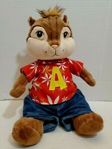 Alvin Chipmunk Hawaiian Shirt Blue Jeans Med Plush Pre-Owned