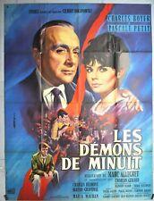 AFFICHE ORIGINALE - LES DÉMONS DE MINUIT - MARC ALLEGRET - CHARLES BOYER - 1961