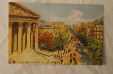 Paris - Boulevard de La Madeleine - France - Vintage - Postcard.