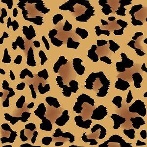 Artisan Matt Gift Wrap, Any Occasion, 2M to 5M Length. Hand Drawn Leopard Print.