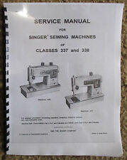 Singer 337 338 Sewing Machine Service Repair Adjusters Manual Book