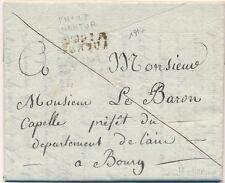 Lettre P.n°1.P Nantua Ain pour le Baron du Dept de L'ain Cover