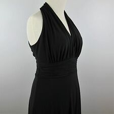 Dressy Black Dress Size 10 Evan Picone Figure Flattering Fit & Flare Sleeveless