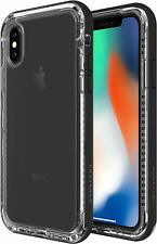 Lifeproof Next iPhone XS & X Case Cover Drop Protection - Black Crystal Clear