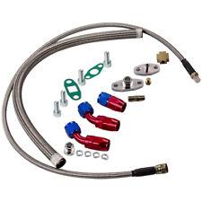 T3T4 T3 T4 T60 T61 T70 T04E Oil Feed Line + Turbo Oil Drain Return Complete Kits