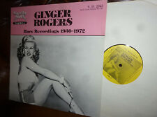 Ginger Rogers, Rare Recordings 1930 - 1972, USA Sandy Hook S.HG. 2042 LP, 12""