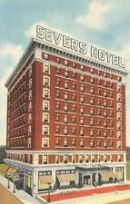 MUSKOGEE, OK Oklahoma  HOTEL SEVERS  Roadside  c1940's Curteich Linen Postcard