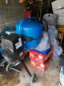 Ferrex Electric Cement Mixer Portable Mortar Plaster Concrete Drum 550w 120l