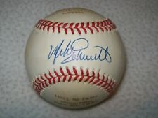 MIKE SCHMIDT SPECIAL HOF SIGNED AUTOGRAPHED NL BILL WHITE BASEBALL PHILLIES