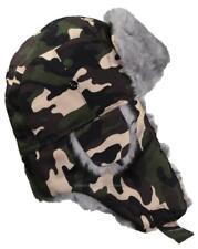 Best Winter Hats Adult Cotton Russian W/Soft Faux Fur#127 Woodland Camo (XL/XXL)
