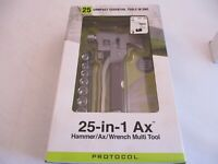 Protocol 25-in-1 Ax Multi Tool. Hammer, Wrench, Ax. NEW (Opened But Never Used)