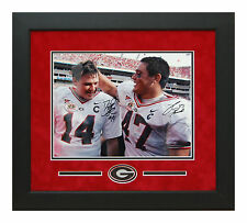 David Pollack David Greene Georgia Bulldogs Autographed Framed 11x14 Picture