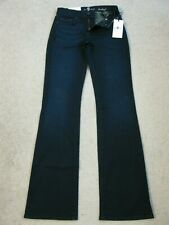 NWT Seven 7 For All Mankind BOOTCUT Jeans DARK BLUE $169 SZ 25 (25 X 33)