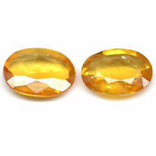 Yellow Excellent Cut Transparent Loose Sapphires