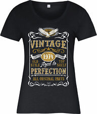 Personalised Made in 1974 Vintage Ladies T-Shirt, Born 1974 Birthday Age Year