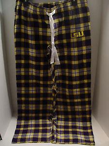 New LSU Tigers Ladies Pajamas Flannel Pajama Pants NCAA  Size Medium