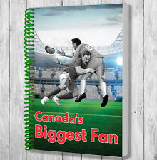 Canada Rugby Fan Notebook - Christmas / Birthday Gift / Stocking Filler