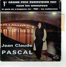 Jean-Claude PASCAL Vinyle 45T EP AMOUREUX 1er Prix Eurovision VM 529 Languette