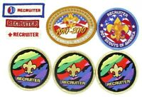 Lot of 8 Boy Scouts Recruiter Patches BSA