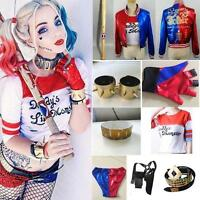 Harley Quinn Suicide Squad Daddy's Coat Lil Jacket Costume Shorts Accesories Lot