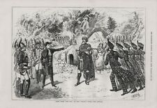 OLD ANTIQUE 1879 PRINT SCENE FROM ROB ROY AT NEW SADLERS WELLS THEATRE  b117