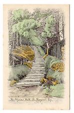 Pilgrims Walk - St Margarets Bay  Art Postcard c1915