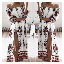 Summer 3/4 Sleeve Maxi Dresses for Women
