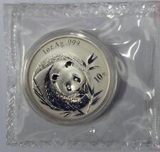 China 2003 Panda Silver Coin Genuine 1 OZ 10 Yuan UNC