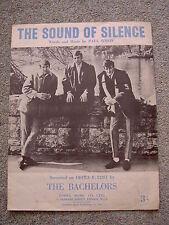 The Sound of Silence, The Bachelors - Original 1960s sheet music, Paul Simon
