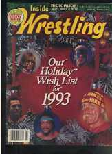 Inside Wrestling February 1993 Hulk Hogan Sting Brett Hart Ultimate Warrio MBX29