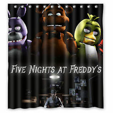Waterproof  Five Nights at Freddy's Custom Fabric Durable Shower Curtain