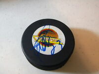 Martin Gelinas Vancouver Canucks Signed Autographed Hockey Puck W/COA