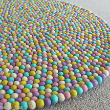 Pom Pom Felt Balls Assorted color Rug 100% Wool 90-200 cm Freckle Nursery mat