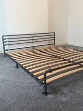 Industrial Bed | Any Size & Style Bespoke Handmade | With Sprung Slats