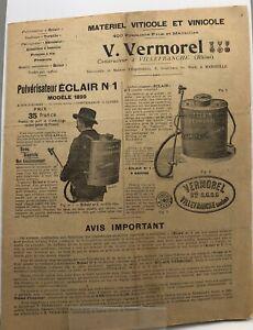 Vermorel à Villefranche (Rhône) - Matériel Viticole et Vinicole - 1899