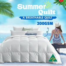 Aus Made 200GSM All Size Microfibre Summer Quilt Microfiber Doona Duvet Blanket