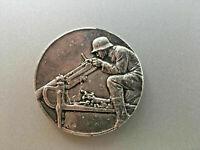"""Original 1929 German Veteran's Machine Gun Table Medal """"very rare"""""""
