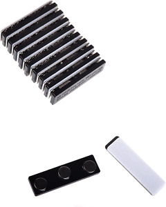10 Sets Name Badges Name Tags ID Holders with Magnetic Backing Attachment