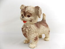 Vintage Edward Mobley Squeeze Toy Dog Eyes Open Close 1960s #2119