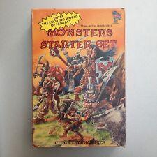 MONSTERS STARTER SET (BC2) 25 mm Metal Miniatures - CITADEL Warhammer - Complet