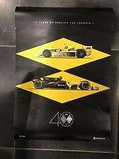 RENAULT SPORT 40 YEAR ANNIVERSARY POSTER - TWIN PACK