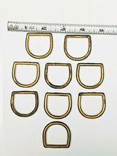 """Brass Plated D-Rings - 1 1/4"""" - quantity of 9"""