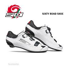New Sidi Sixty Carbon Road Cycling Shoes : White/Black