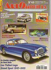 AUTOMOBILIA 48 TALBOT LAGO GRAND SPORT 1947 1955 CITROEN HEULIEZ DAIMLER 1945 60