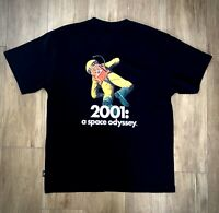 GU 2001 a space odyssey Movie T-shirt Stanley Kubrick Black Size-L from Japan