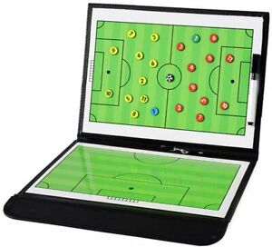 Football Coaching Board Coaches Clipboard Tactical Magnetic Board Kit with Dr